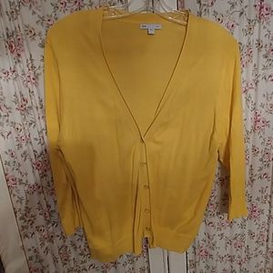 Yellow button up Sweater